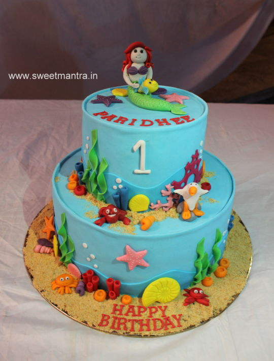 Mermaid Underwater Cake Theme