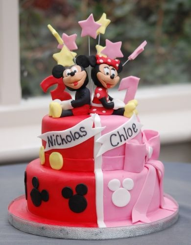 7 Photos of Mickey And Minnie Cakes