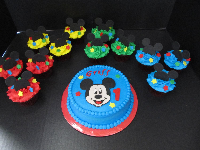 Mickey Mouse Birthday Cupcake Cake