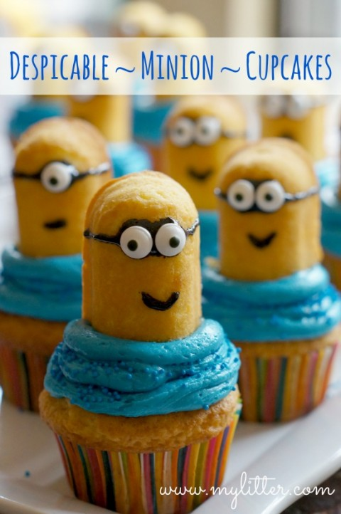 Minion Cupcakes Made From Twinkies