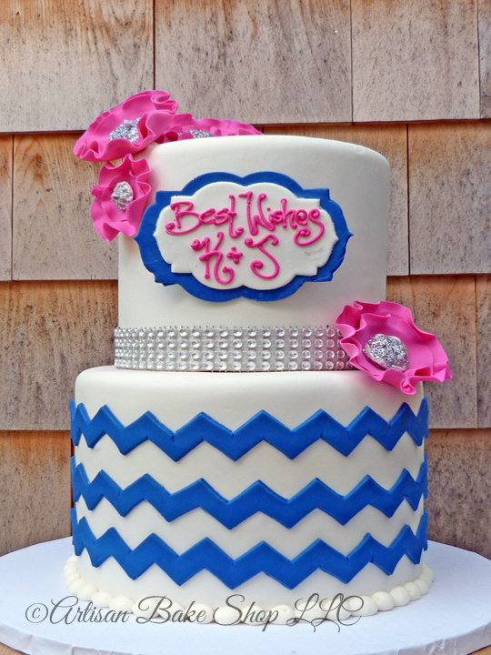 Navy Blue Bridal Shower Cakes