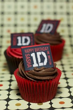 One Direction Birthday Cupcakes