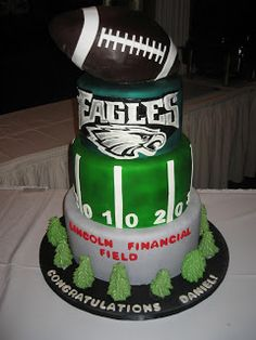 Philadelphia Eagles Grooms Cake