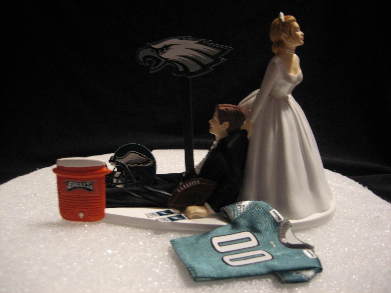 Philadelphia Eagles Wedding Cake Topper