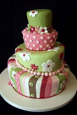 Pink Topsy Turvy Wedding Cake