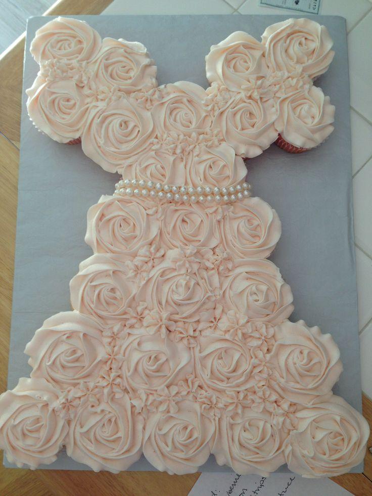 Pinterest Bridal Shower Cupcake Cake