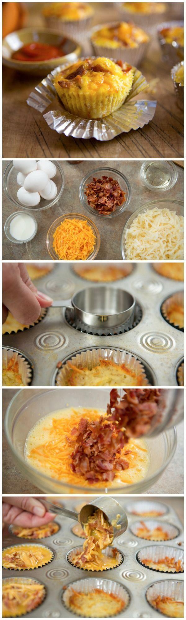 Potato Bacon and Egg Cupcakes Breakfast