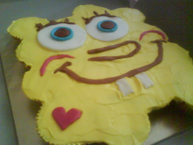 Pull Apart Cupcakes Spongebob