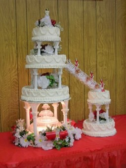 Quinceanera Cake with Fountain