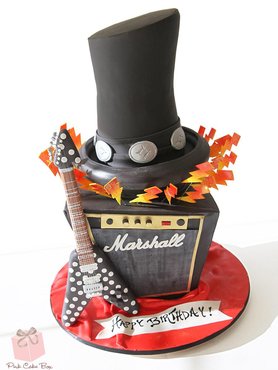 Rock'n Roll Birthday Cake