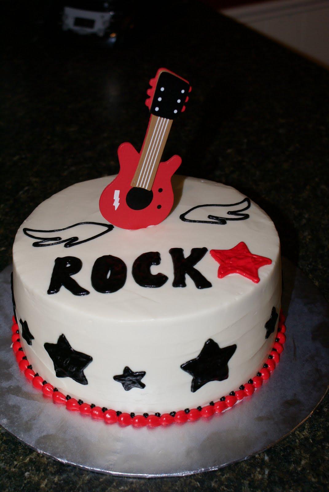 Rock Star Guitar Birthday Cake