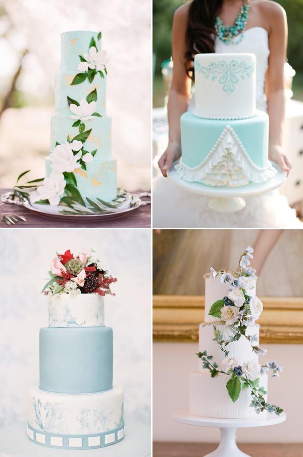 Something Blue Wedding Cake Ideas