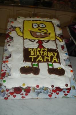 Spongebob Pull Apart Cupcake Cake
