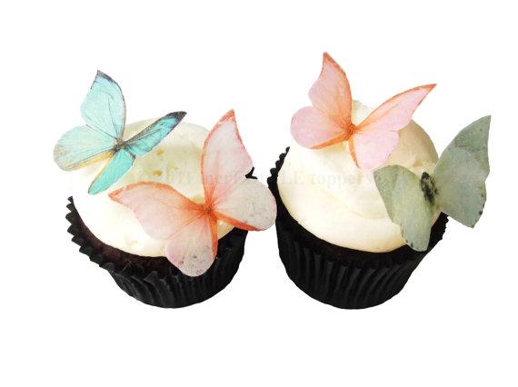 Spring Wedding Cake and Cupcakes