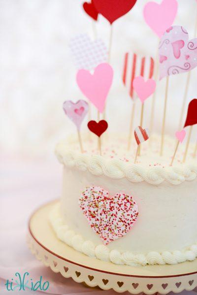 Sprinkle Heart Cake Decoration