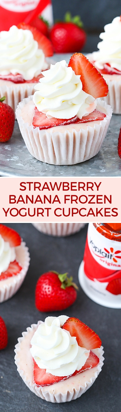 Strawberry Banana Frozen Yogurt