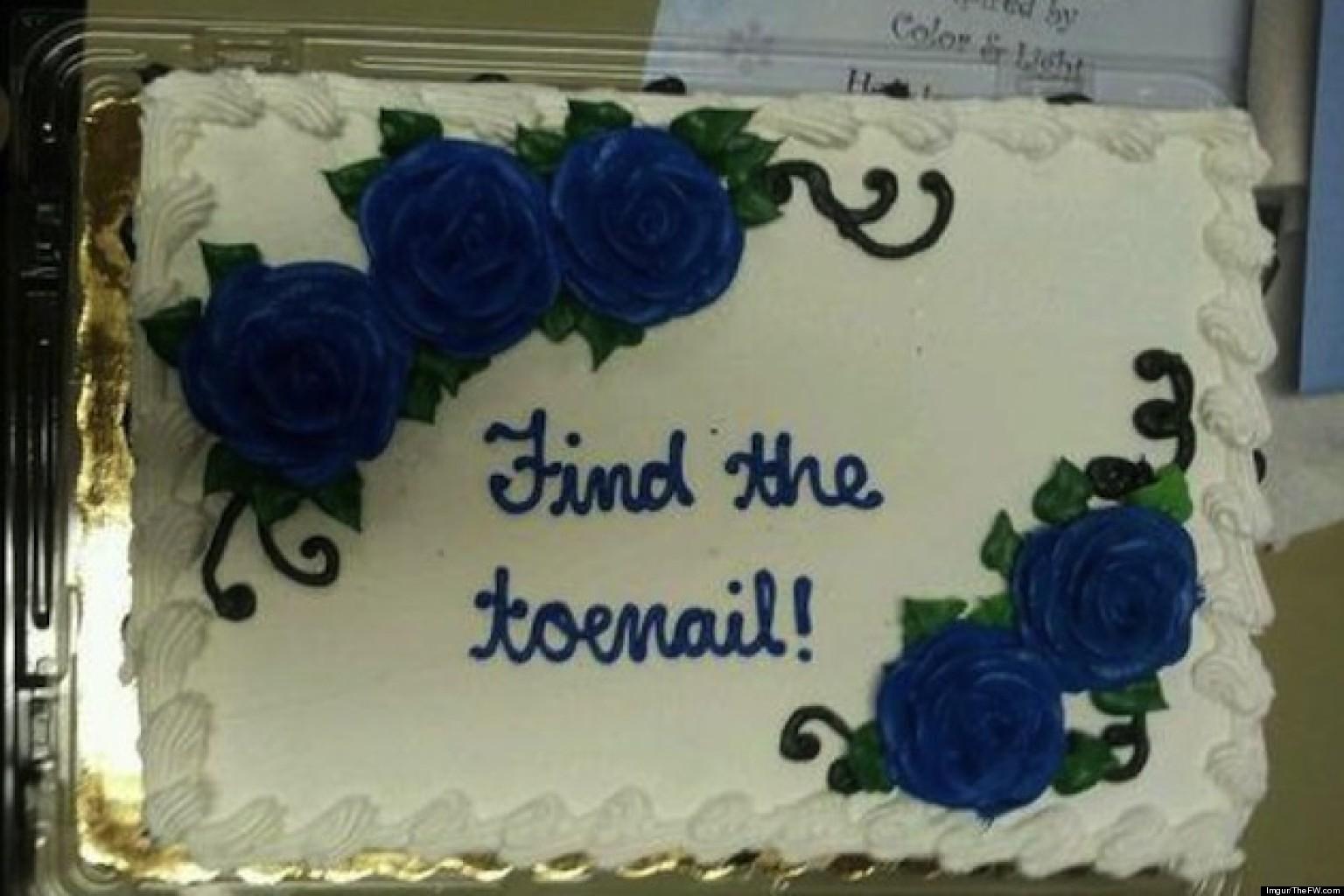 Toenail Funny Birthday Cake
