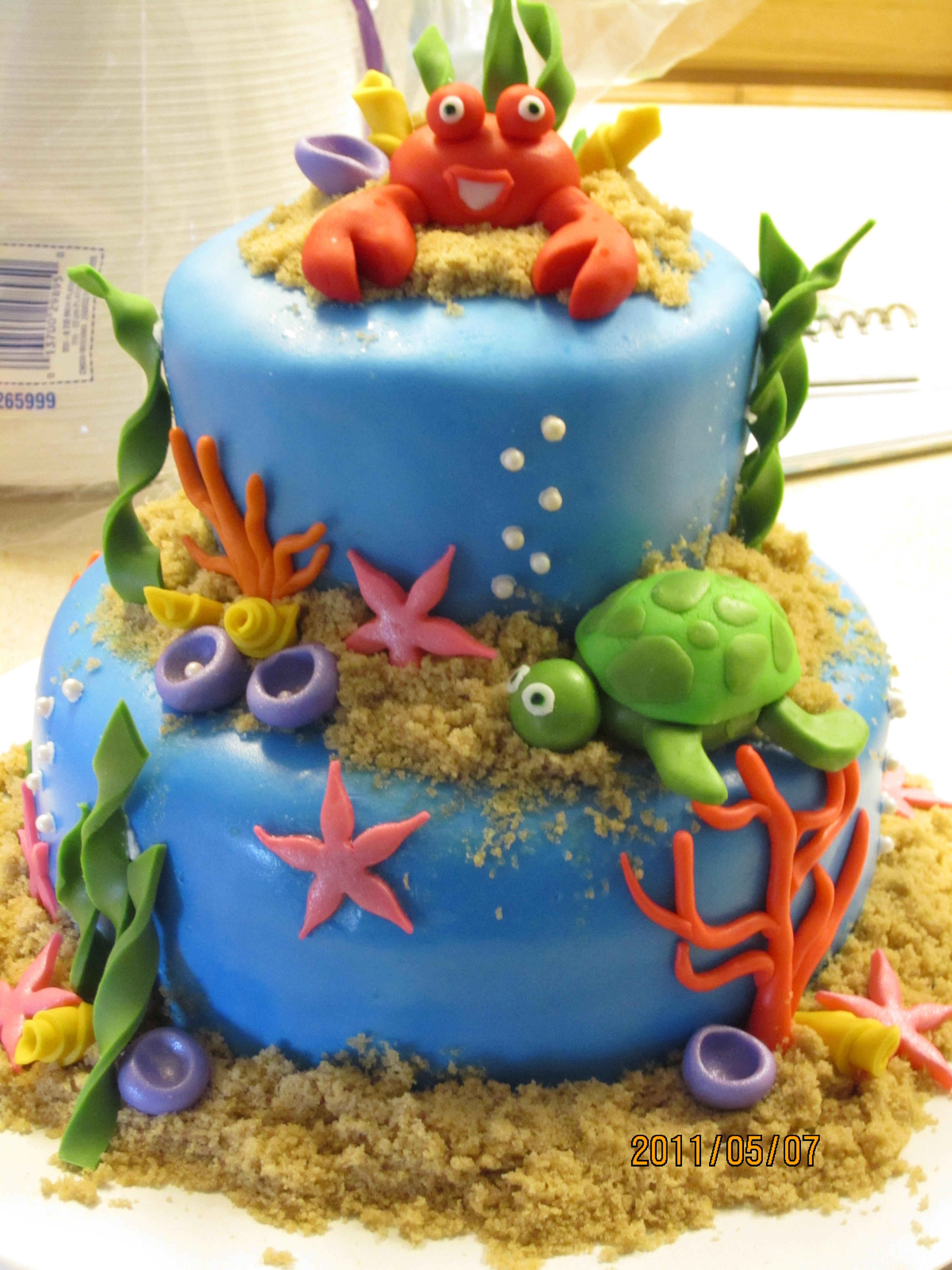 Underwater Theme Baby Shower Cake