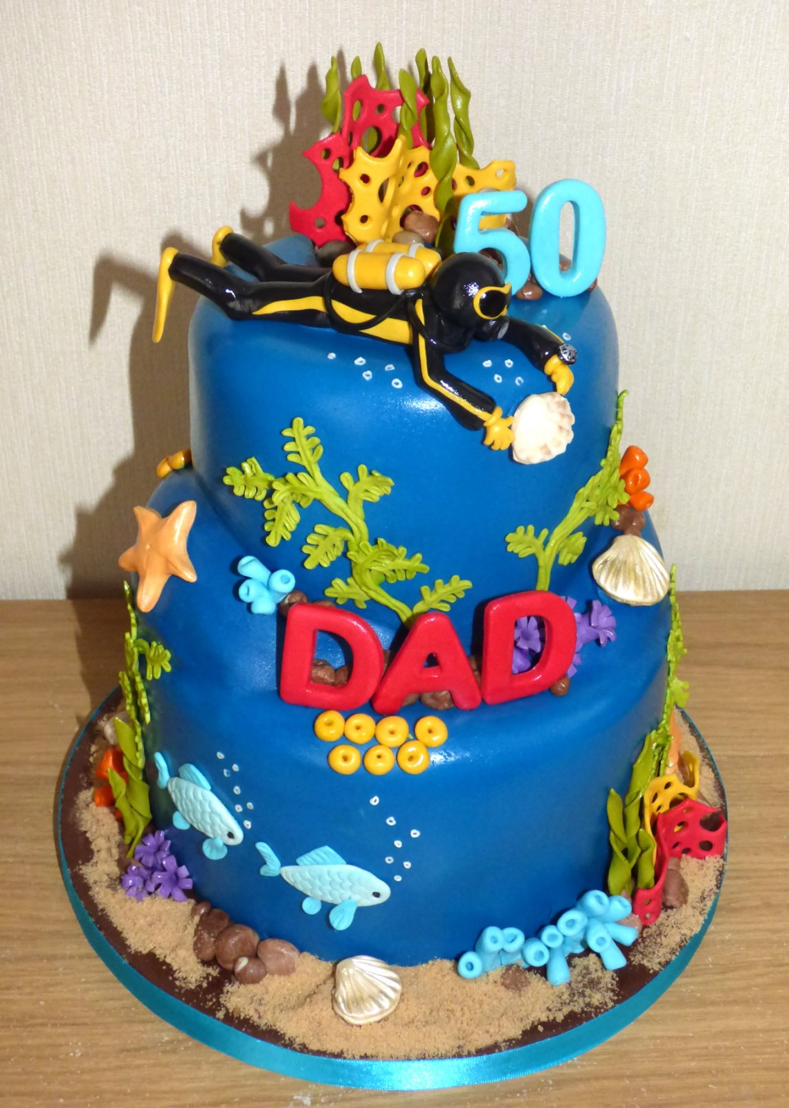 Underwater Themed Birthday Cake