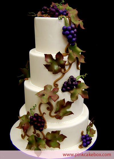 Vineyard Themed Wedding Cake