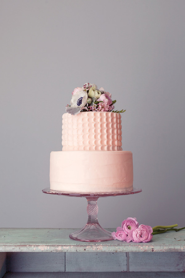 Wedding Cake Two Tiers with Pink