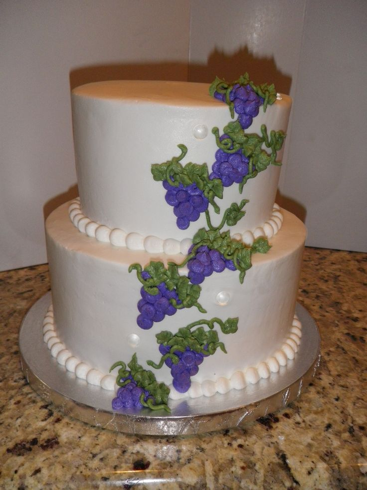 Wedding Cake with Grapes