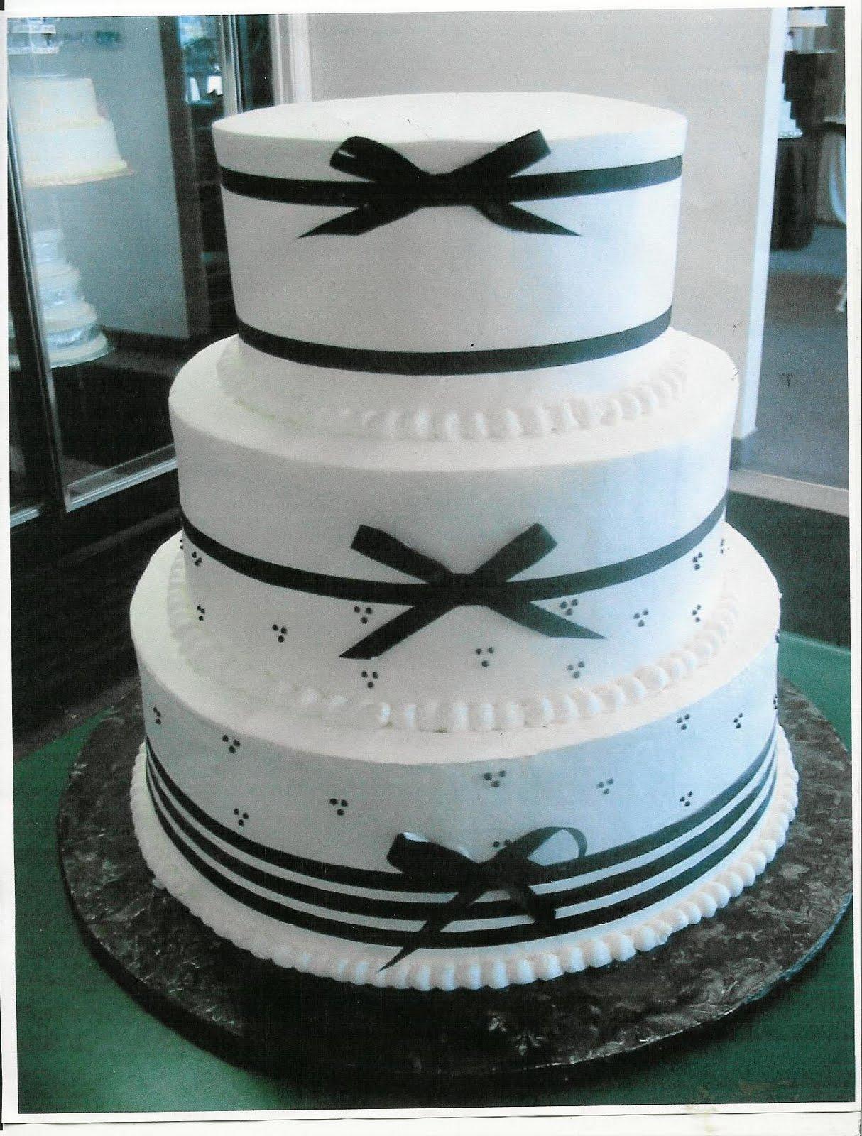 Wedding Cake with Ribbon