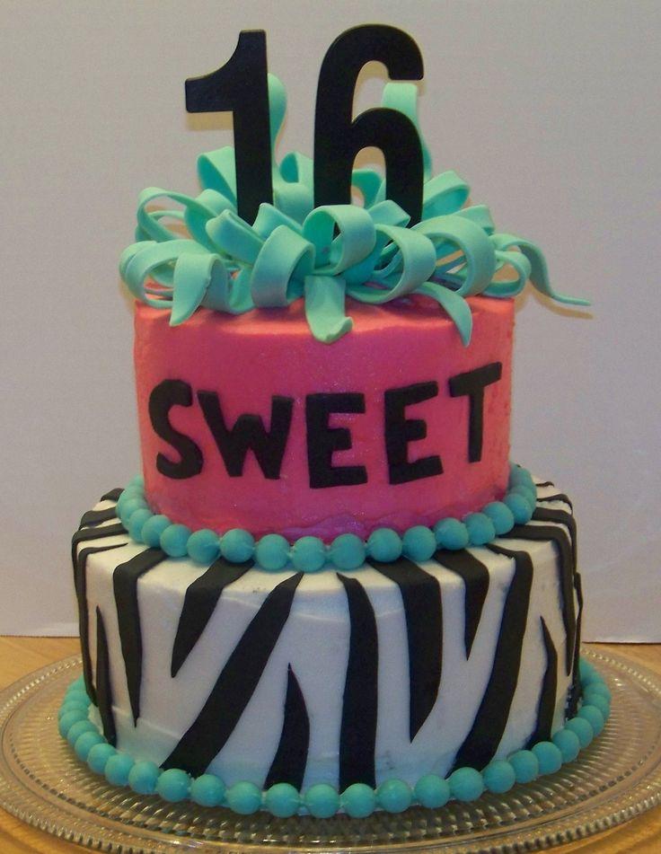 Zebra Sweet 16 Cake Ideas