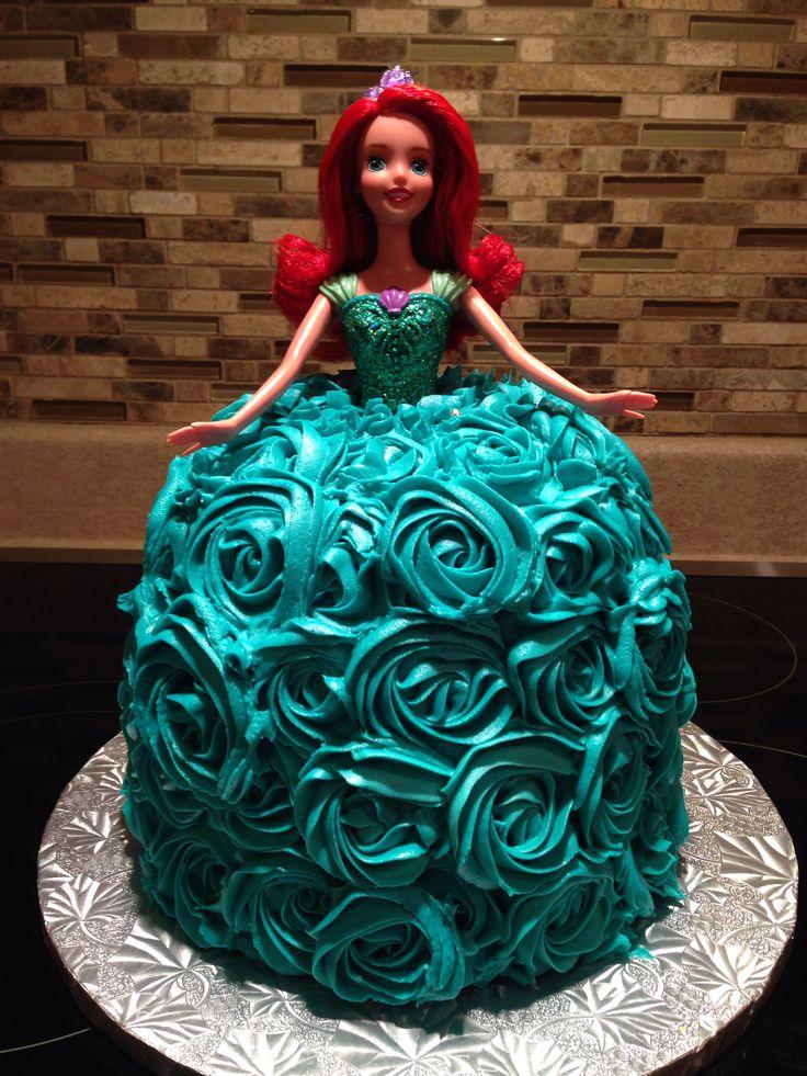 Ariel Barbie Birthday Cake