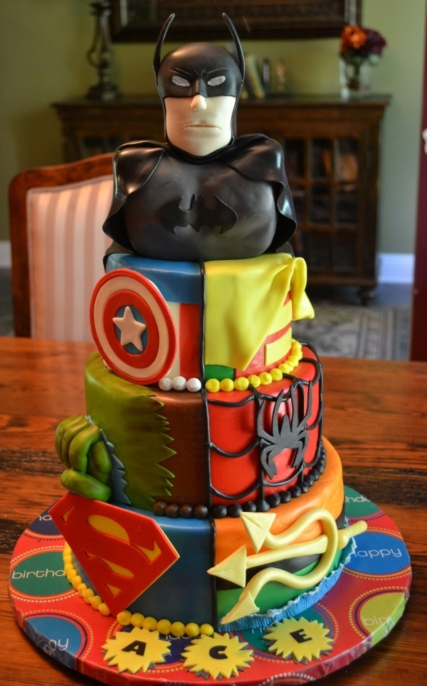 Awesome Superhero Birthday Cake