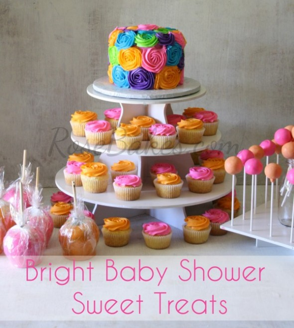 7 Photos of Bright Pink And Green Baby Shower Cakes