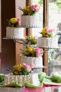 Basketweave Wedding Cake Design
