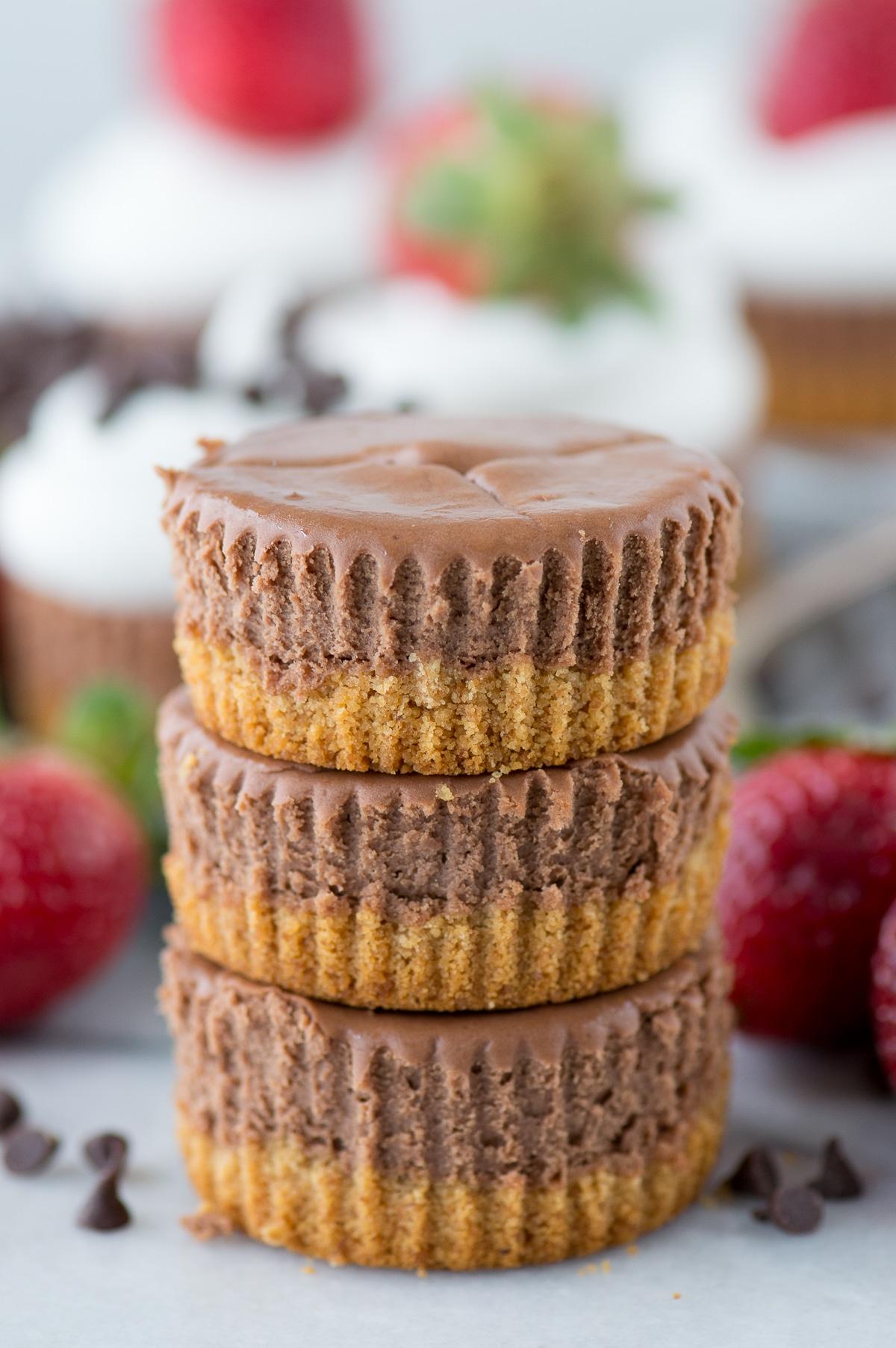 Chocolate Cheesecake with Graham Crust