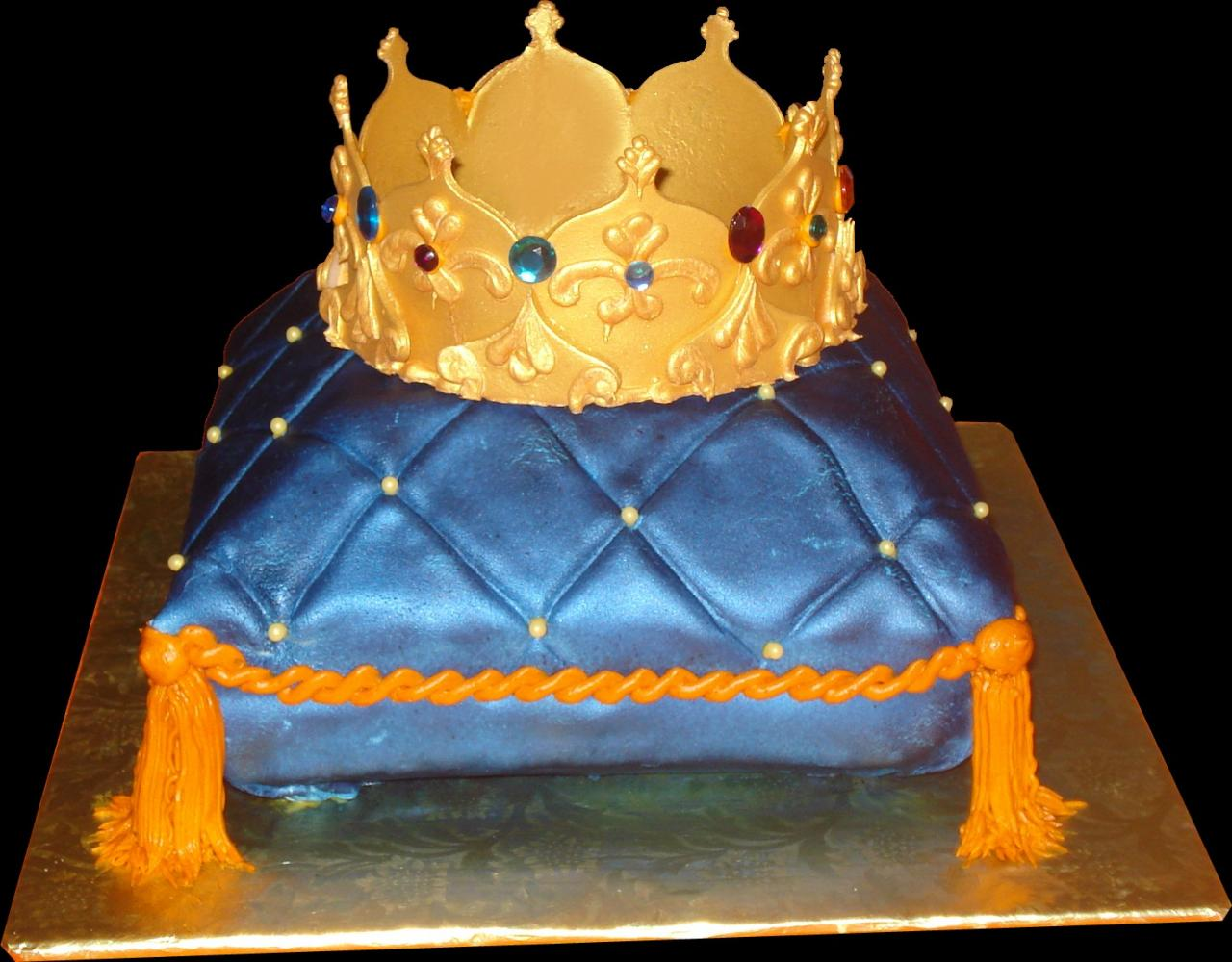 Crown Shaped Birthday Cake