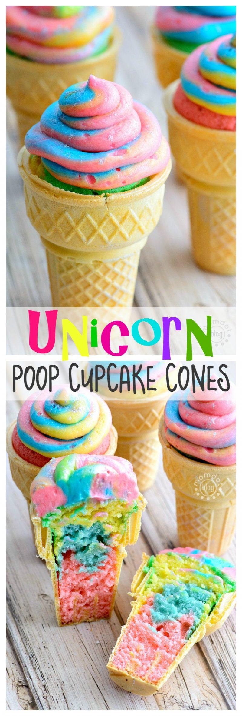 Cupcake Cones Rainbow Poop