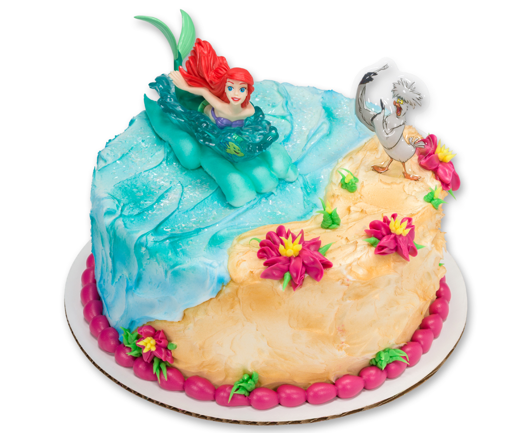 10 Photos of Princess Ariel Round Cakes