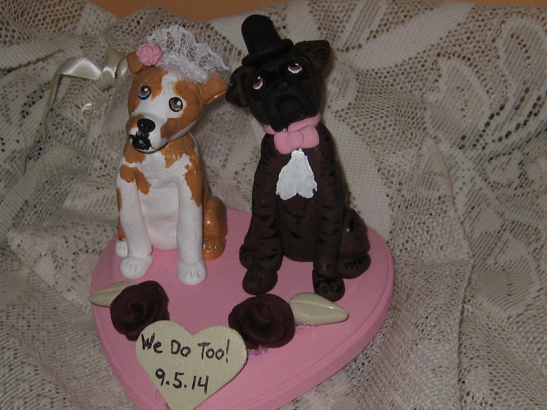 Dog Wedding Cake Topper