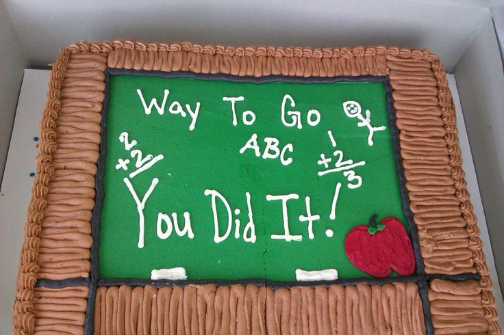 End of School Year Cake