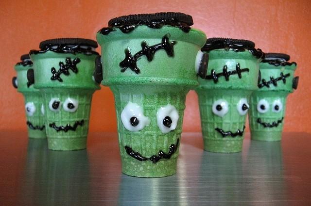 Frankenstein Halloween Treats Ice Cream Cone