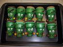 Frankenstein Ice Cream Cone Cupcakes