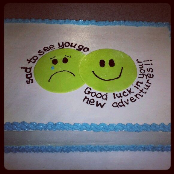 10 Photos of Phrases Fare Well On Cakes