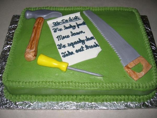 Groom Tool Shower Cake