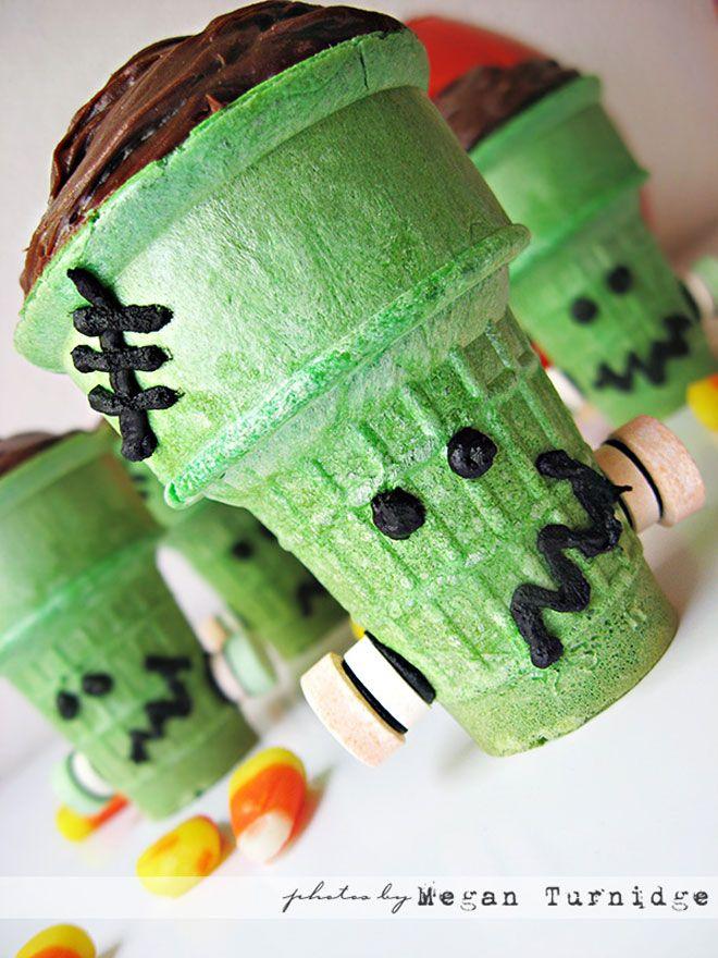 Halloween Frankenstein Cupcakes