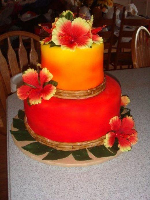 8 Photos of Hawaiian Themed Party Cakes