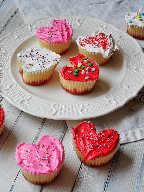 Heart Shaped Valentine Cupcake Recipes
