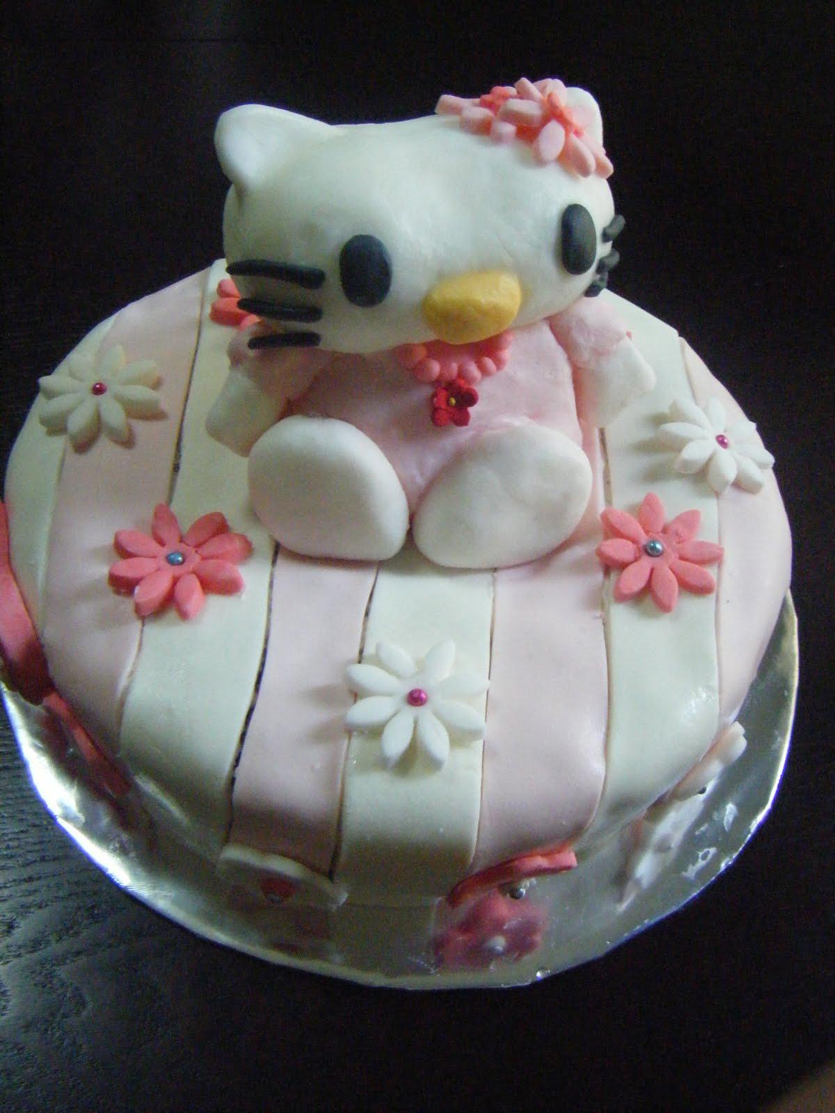 8 Photos of Hello Kitty Cakes Without Fondant