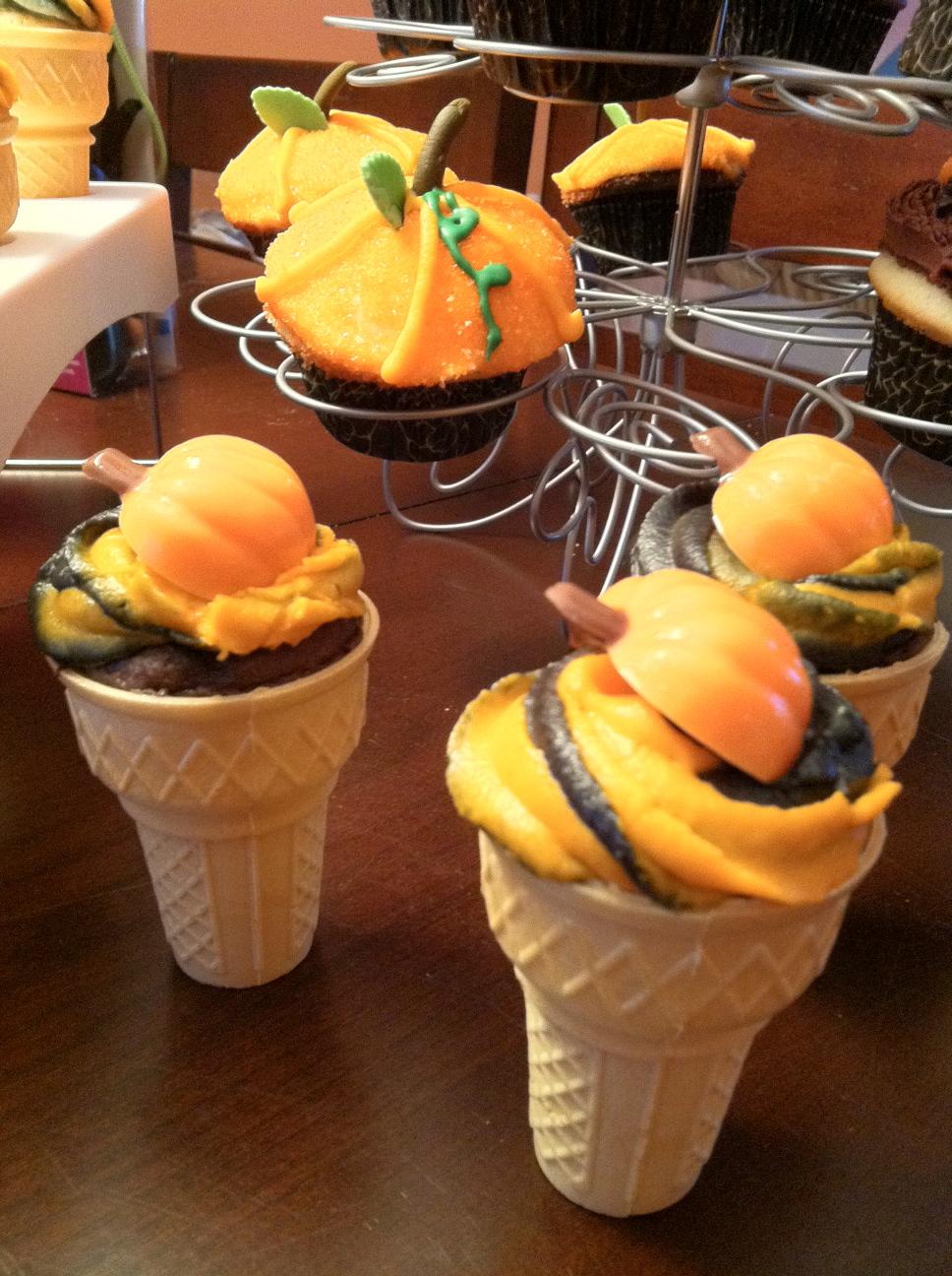 Ice Cream Cone Cupcakes Halloween