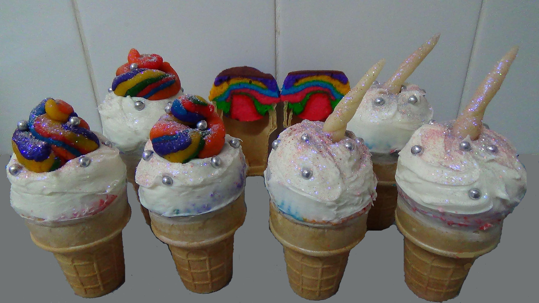 Ice Cream Cone Rainbow Unicorn Poop