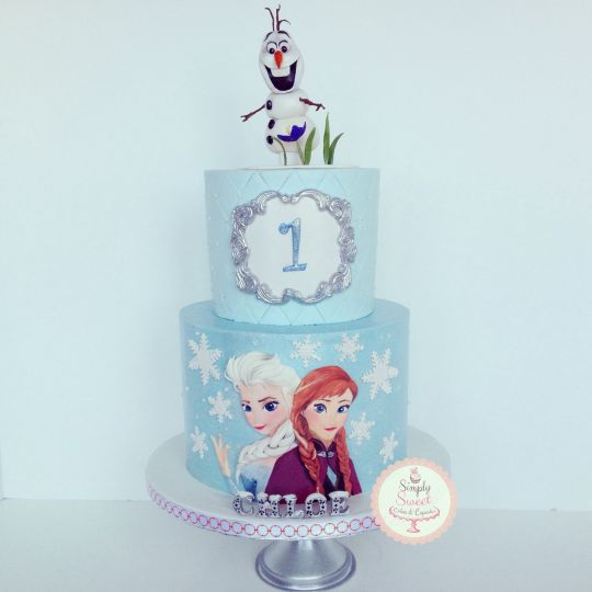 Let It Go Frozen Birthday Cake