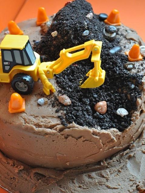 11 Photos of Construction Cakes For Little Boys